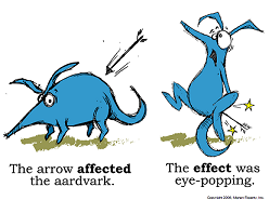 aardvark - affect vs effect