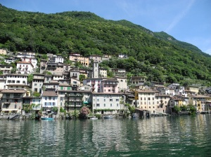 Gandria, as seen from the lake