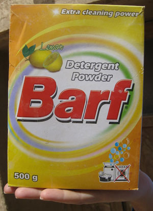 In Iran, where this detergent is manufactured, that word means -snow
