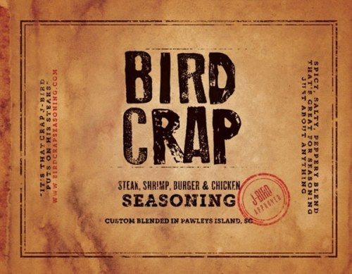 LIT - Bird Crap Seasoning Label