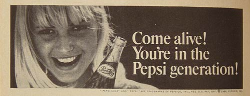 LIT - Pepsi, Come Alive with the Pepsi Generation, 1963