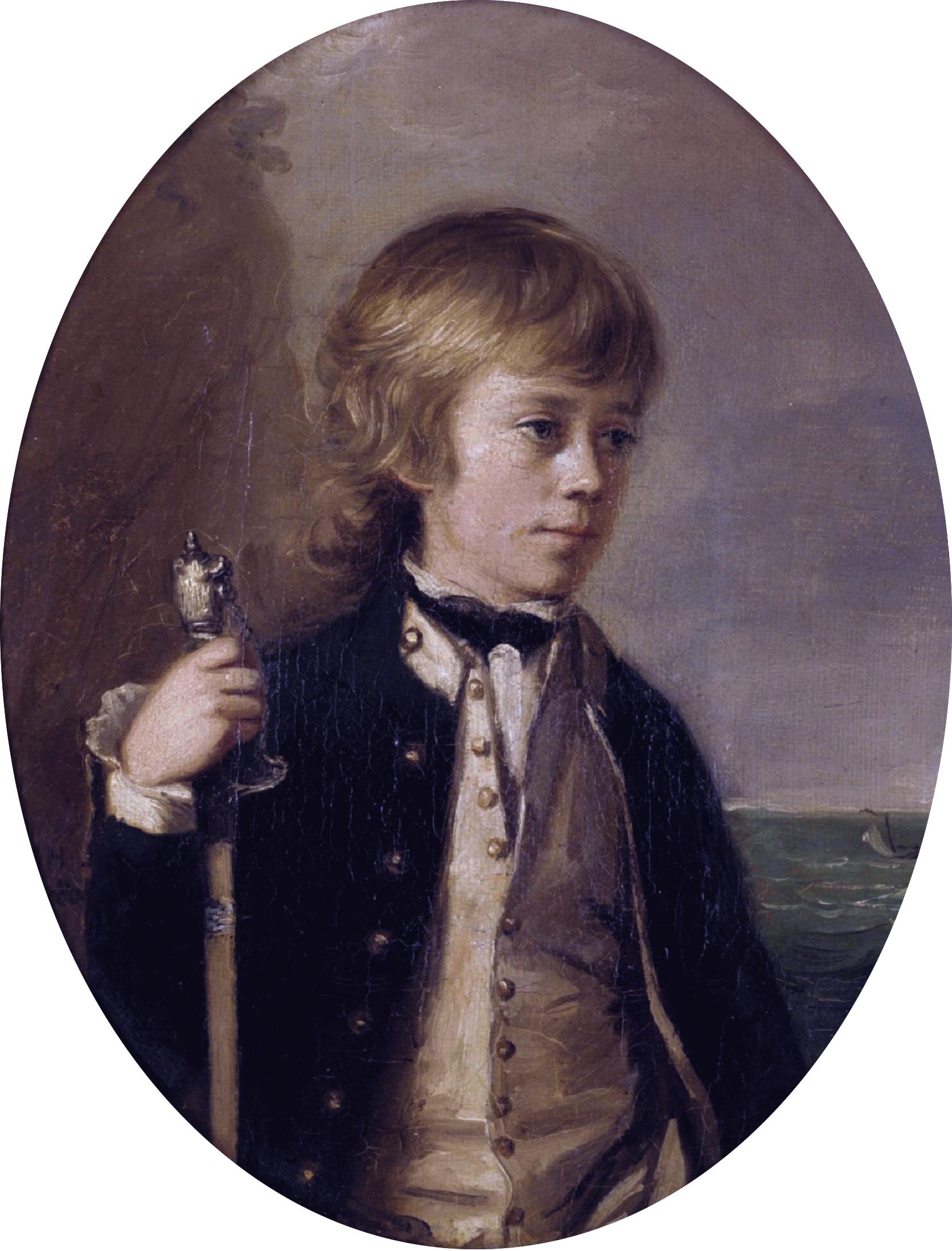 Midshipman Henry William Baynton, aged 13 -1780 - Wikipedia.jpg