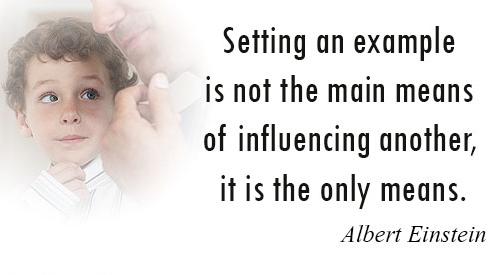 Albert Einstein - Example, Influence