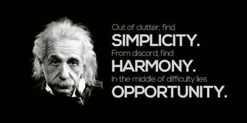 Albert Einstein - Simplicity, Harmony, Opportunities
