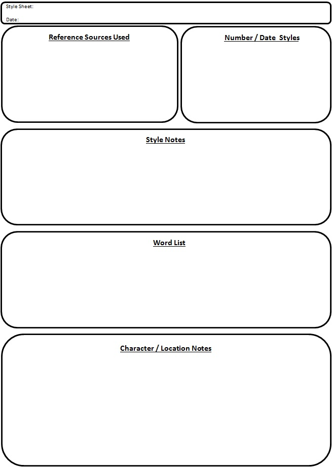 Copy-Editing - Style Sheet