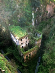 Abandoned mill from 1866 in Sorrento, Italy
