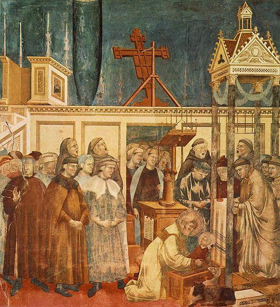 nativity - by Giotto di Bondone (1267-1337)