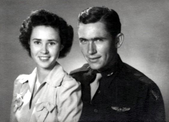 Peggy and Billie D. Harris, 1944