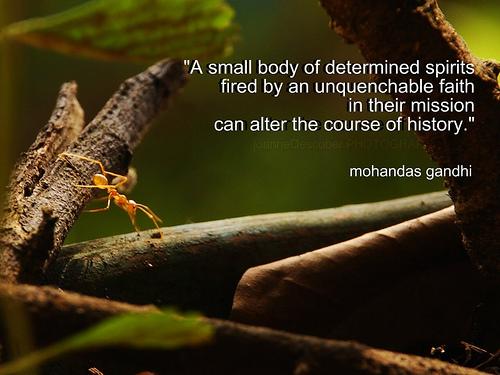 Mahatma Gandhi - Determined, alter history