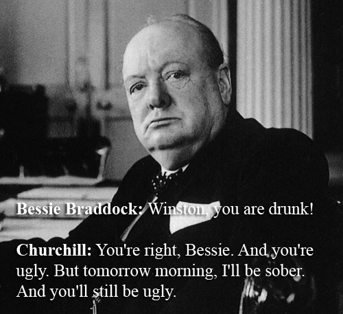 Witty Comebacks - Churchill vs Bessie Bradock