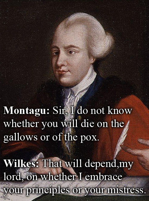 Witty Comebacks - John Wilkes vs John Montagu