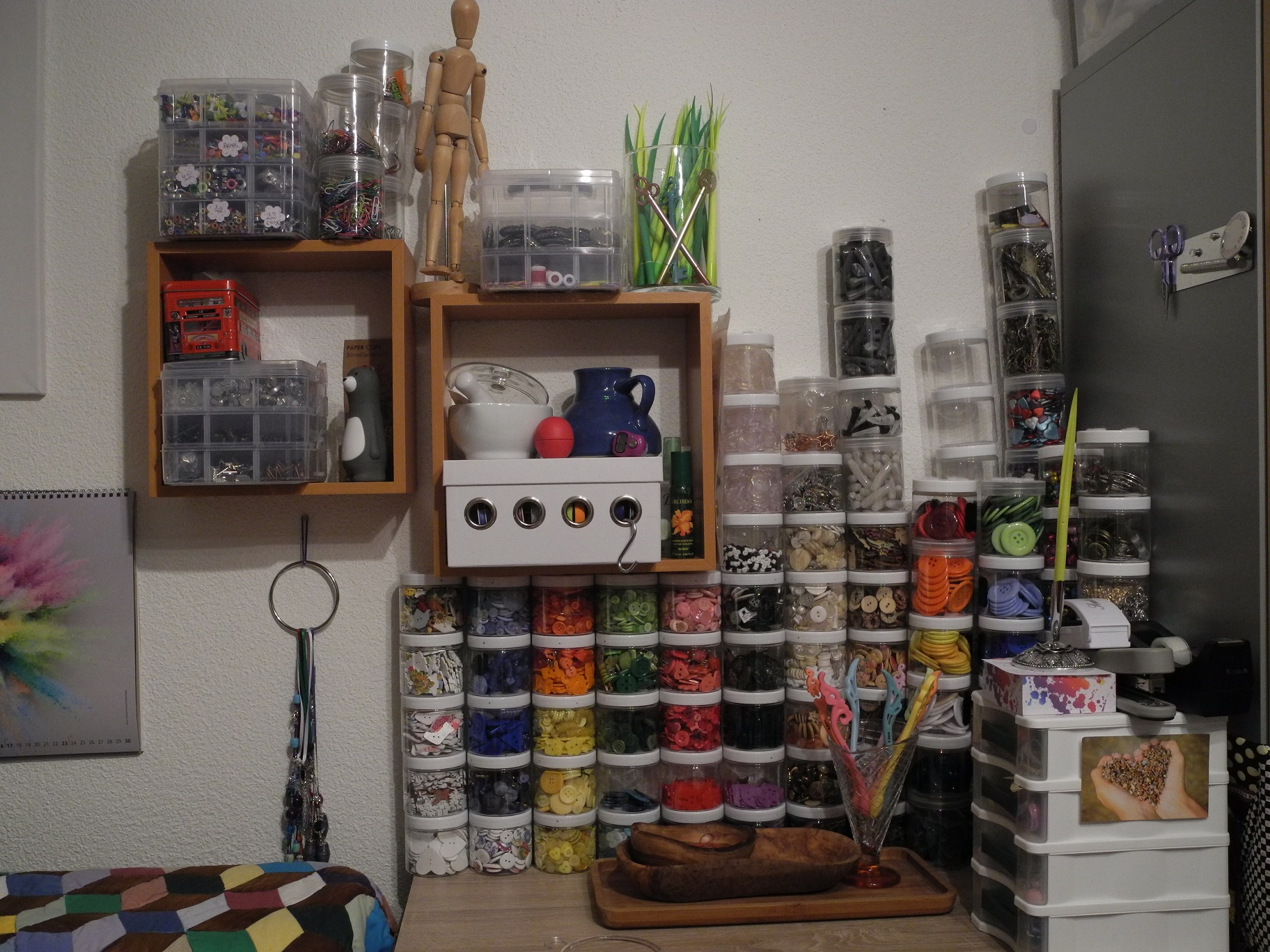 Craft room, April 2018