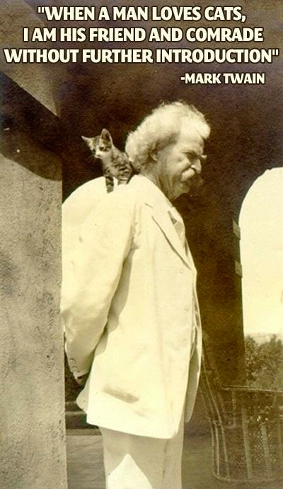 Mark Twain - Cats, Friend without further Introduction