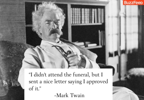 Mark Twain - Funeral Letter