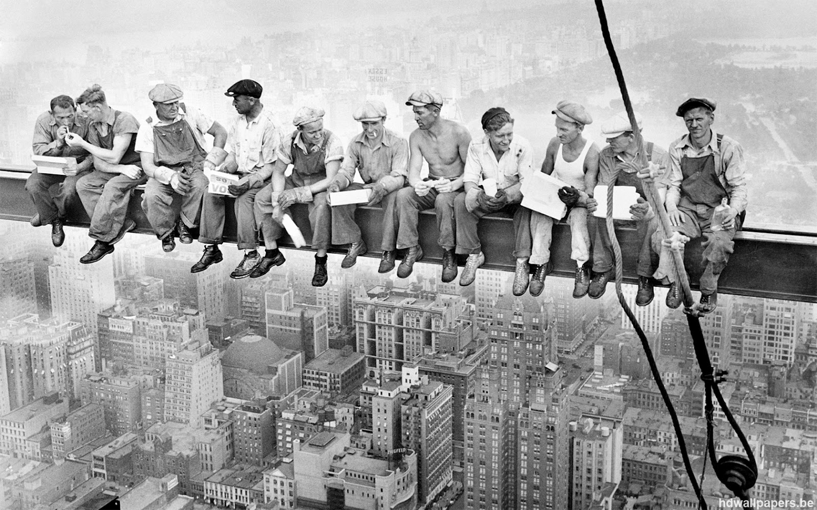Construction - Charles C Ebbets, Lunchtime atop a Skyscraper