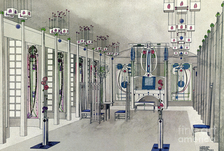 Margaret MacDonald Mackintosh - Interior Design for a Music Room
