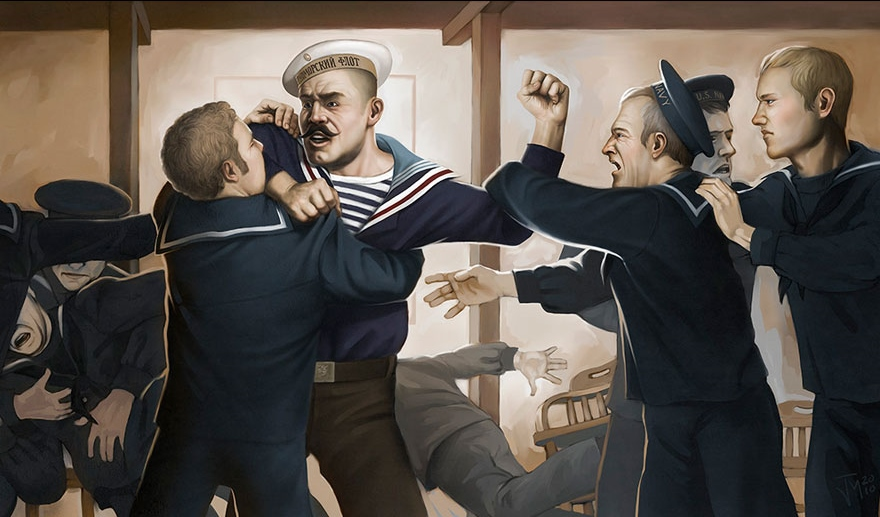 Bar Fight, World War 1