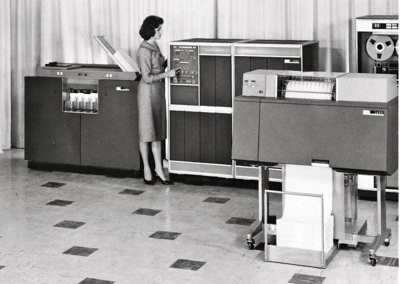 IBM 1401 unit - History of Computer Museum archive photo